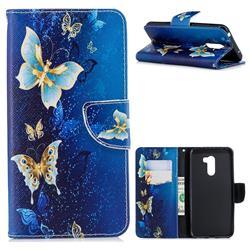Golden Butterflies Leather Wallet Case for Mi Xiaomi Pocophone F1