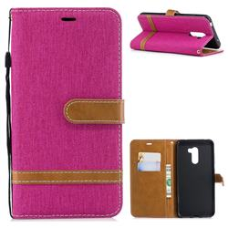 Jeans Cowboy Denim Leather Wallet Case for Mi Xiaomi Pocophone F1 - Rose