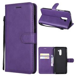 Retro Greek Classic Smooth PU Leather Wallet Phone Case for Mi Xiaomi Pocophone F1 - Purple