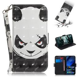 Angry Bear 3D Painted Leather Wallet Phone Case for Mi Xiaomi Pocophone F1