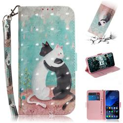 Black and White Cat 3D Painted Leather Wallet Phone Case for Mi Xiaomi Pocophone F1