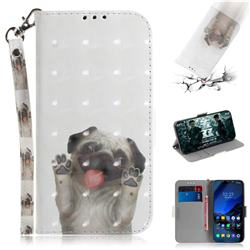 Pug Dog 3D Painted Leather Wallet Phone Case for Mi Xiaomi Pocophone F1
