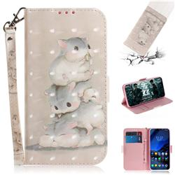 Three Squirrels 3D Painted Leather Wallet Phone Case for Mi Xiaomi Pocophone F1