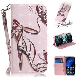 Butterfly High Heels 3D Painted Leather Wallet Phone Case for Mi Xiaomi Pocophone F1