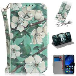 Watercolor Flower 3D Painted Leather Wallet Phone Case for Mi Xiaomi Pocophone F1