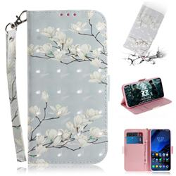 Magnolia Flower 3D Painted Leather Wallet Phone Case for Mi Xiaomi Pocophone F1