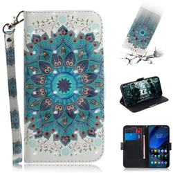Peacock Mandala 3D Painted Leather Wallet Phone Case for Mi Xiaomi Pocophone F1