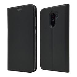 Ultra Slim Card Magnetic Automatic Suction Leather Wallet Case for Mi Xiaomi Pocophone F1 - Star Grey
