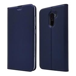 Ultra Slim Card Magnetic Automatic Suction Leather Wallet Case for Mi Xiaomi Pocophone F1 - Royal Blue