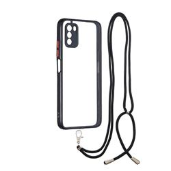 Necklace Cross-body Lanyard Strap Cord Phone Case Cover for Mi Xiaomi Poco M3 - Black