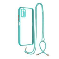 Necklace Cross-body Lanyard Strap Cord Phone Case Cover for Mi Xiaomi Poco M3 - Blue