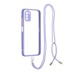 Necklace Cross-body Lanyard Strap Cord Phone Case Cover for Mi Xiaomi Poco M3 - Purple