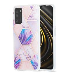 Purple Dream Marble Pattern Galvanized Electroplating Protective Case Cover for Mi Xiaomi Poco M3