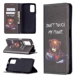 Chainsaw Bear Slim Magnetic Attraction Wallet Flip Cover for Mi Xiaomi Poco M3