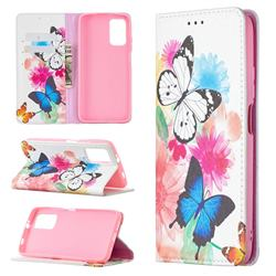 Flying Butterflies Slim Magnetic Attraction Wallet Flip Cover for Mi Xiaomi Poco M3