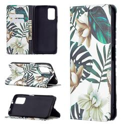 Flower Leaf Slim Magnetic Attraction Wallet Flip Cover for Mi Xiaomi Poco M3