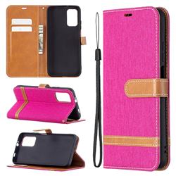Jeans Cowboy Denim Leather Wallet Case for Mi Xiaomi Poco M3 - Rose