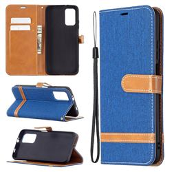 Jeans Cowboy Denim Leather Wallet Case for Mi Xiaomi Poco M3 - Sapphire