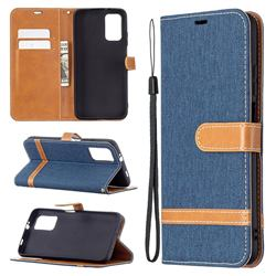 Jeans Cowboy Denim Leather Wallet Case for Mi Xiaomi Poco M3 - Dark Blue
