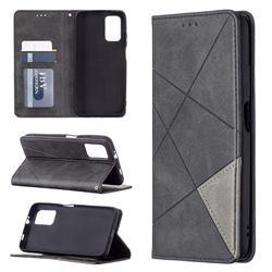 Prismatic Slim Magnetic Sucking Stitching Wallet Flip Cover for Mi Xiaomi Poco M3 - Black