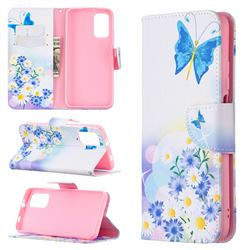 Butterflies Flowers Leather Wallet Case for Mi Xiaomi Poco M3