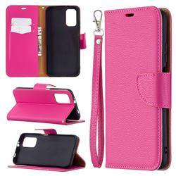 Classic Luxury Litchi Leather Phone Wallet Case for Mi Xiaomi Poco M3 - Rose