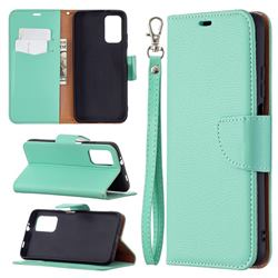 Classic Luxury Litchi Leather Phone Wallet Case for Mi Xiaomi Poco M3 - Green