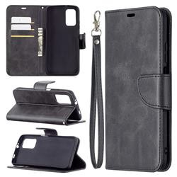 Classic Sheepskin PU Leather Phone Wallet Case for Mi Xiaomi Poco M3 - Black