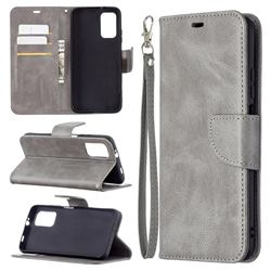 Classic Sheepskin PU Leather Phone Wallet Case for Mi Xiaomi Poco M3 - Gray