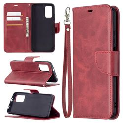 Classic Sheepskin PU Leather Phone Wallet Case for Mi Xiaomi Poco M3 - Red