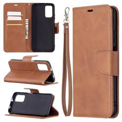 Classic Sheepskin PU Leather Phone Wallet Case for Mi Xiaomi Poco M3 - Brown