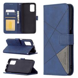 Binfen Color BF05 Prismatic Slim Wallet Flip Cover for Mi Xiaomi Poco M3 - Blue