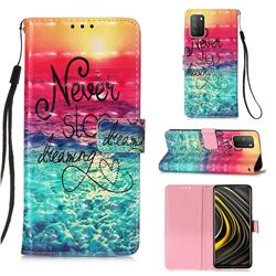 Colorful Dream Catcher 3D Painted Leather Wallet Case for Mi Xiaomi Poco M3