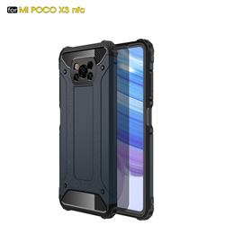 King Kong Armor Premium Shockproof Dual Layer Rugged Hard Cover for Mi Xiaomi Poco X3 NFC - Navy