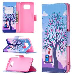 Tree and Owls Leather Wallet Case for Mi Xiaomi Poco X3 NFC