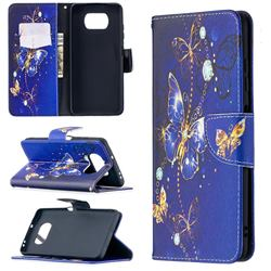 Purple Butterfly Leather Wallet Case for Mi Xiaomi Poco X3 NFC