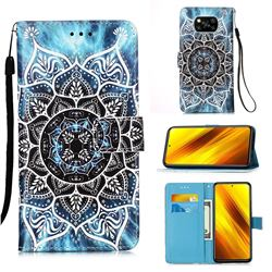 Underwater Mandala Matte Leather Wallet Phone Case for Mi Xiaomi Poco X3 NFC