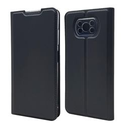 Ultra Slim Card Magnetic Automatic Suction Leather Wallet Case for Mi Xiaomi Poco X3 NFC - Star Grey