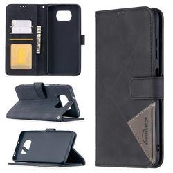 Binfen Color BF05 Prismatic Slim Wallet Flip Cover for Mi Xiaomi Poco X3 NFC - Black