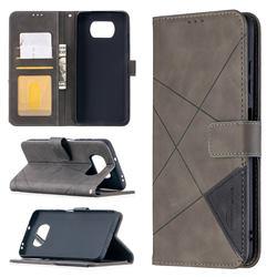 Binfen Color BF05 Prismatic Slim Wallet Flip Cover for Mi Xiaomi Poco X3 NFC - Gray