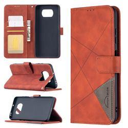 Binfen Color BF05 Prismatic Slim Wallet Flip Cover for Mi Xiaomi Poco X3 NFC - Brown