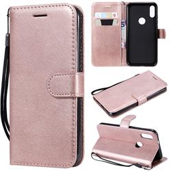 Retro Greek Classic Smooth PU Leather Wallet Phone Case for Xiaomi Mi Play - Rose Gold
