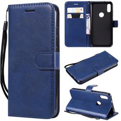Retro Greek Classic Smooth PU Leather Wallet Phone Case for Xiaomi Mi Play - Blue