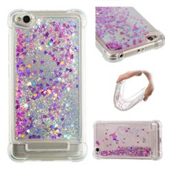 Dynamic Liquid Glitter Sand Quicksand Star TPU Case for Xiaomi Redmi 4A - Rose