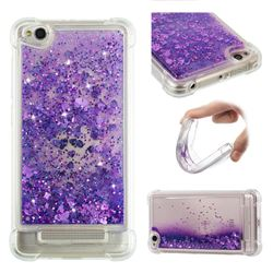 Dynamic Liquid Glitter Sand Quicksand Star TPU Case for Xiaomi Redmi 4A - Purple