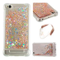 Dynamic Liquid Glitter Sand Quicksand Star TPU Case for Xiaomi Redmi 4A - Diamond Gold