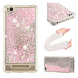 Dynamic Liquid Glitter Sand Quicksand TPU Case for Xiaomi Redmi 4A - Silver Powder Star