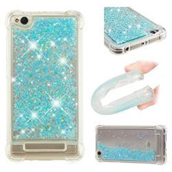 Dynamic Liquid Glitter Sand Quicksand TPU Case for Xiaomi Redmi 4A - Silver Blue Star