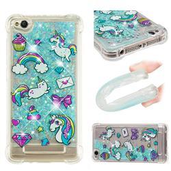Fashion Unicorn Dynamic Liquid Glitter Sand Quicksand Star TPU Case for Xiaomi Redmi 4A