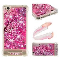 Pink Cherry Blossom Dynamic Liquid Glitter Sand Quicksand Star TPU Case for Xiaomi Redmi 4A